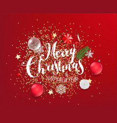 merry christmas and happy new year different vector image