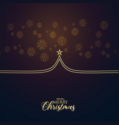 minimal premium christmas greeting design with vector image