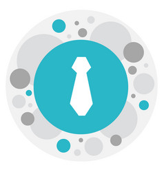 Of business symbol on tie icon vector