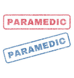 Paramedic textile stamps vector