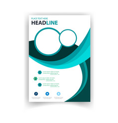 poster modern design circle template image vector image