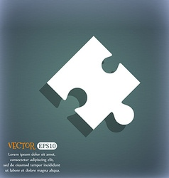 Puzzle piece icon sign on the blue-green abstract vector
