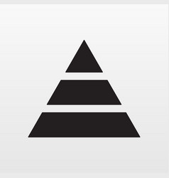 pyramid icon simple finance pyramide symbo vector image