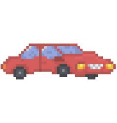 red cartoon vehicle passenger vector image