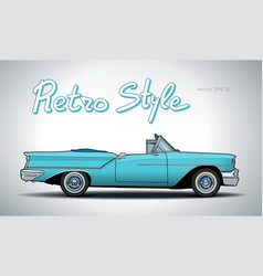 Retro car cabriolet draw vector
