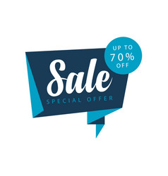 sale up to 70 off special offer template design vector image