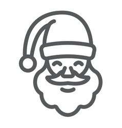 santa claus line icon christmas and character vector image