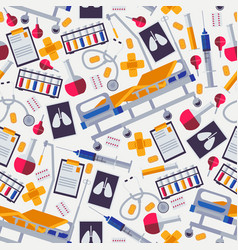 seamless pattern for hospital or medical wrapping vector image