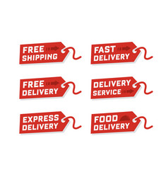 set of delivery service vector image