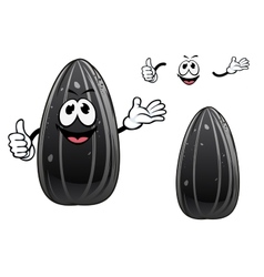 Smiling sunflower seed cartoon character vector