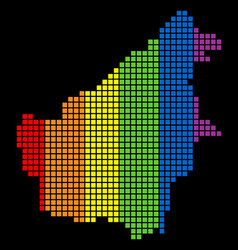 Spectrum dotted lgbt borneo island map vector