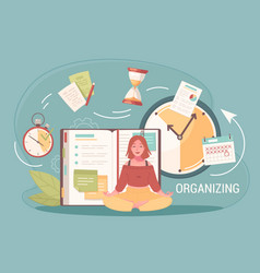 Task organizing doodle composition vector