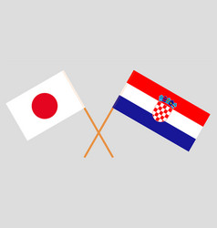 The croatian and japanese flags vector