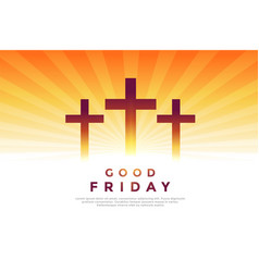 three cross glowing symbols for good friday design vector image