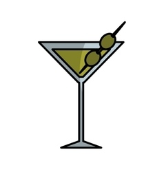 Tropical cocktail fresh isolated icon vector