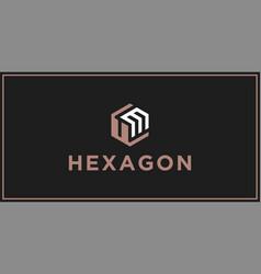 Um hexagon logo design inspiration vector