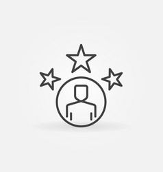 very important person outline icon vip vector image