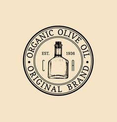 vintage olive logo retro emblem vector image