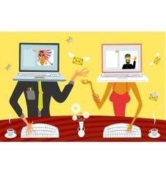 Virtual relationships vector image