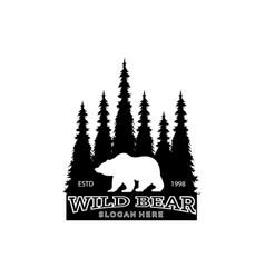 Wild bear vintage adventure logo symbol vector
