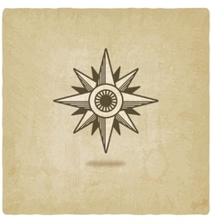 Wind rose old background vector