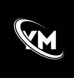 ym logo y m design white ym letter ymy m letter vector image