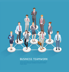 business teamwork concepts business people vector image vector image