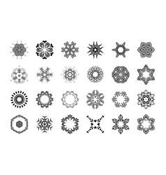 floral mandala pattern unusual flower shape vector image