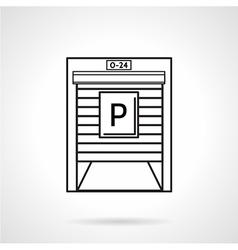 Parking garage black line icon vector image vector image