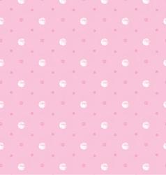 pink polka dot vector image vector image