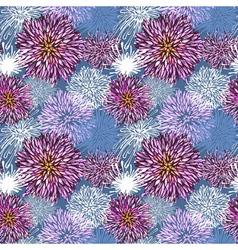 Seamless hand-drawn flower pattern vector