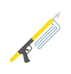 Spear gun or harpoon weapon vector image vector image