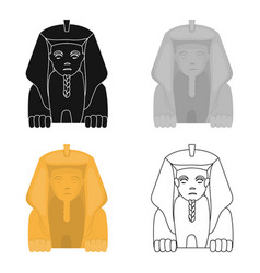 sphinx icon in cartoon style isolated on white vector image