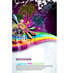 tropical disco dance background vector image