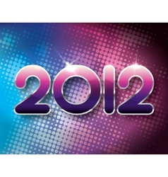 2012 halftone background vector image vector image