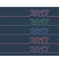 colorful new year inscription 2017 vector image vector image