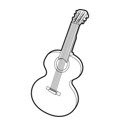 Guitar icon outline isometric style vector image vector image