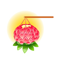 icon lotus lanturn vector image vector image
