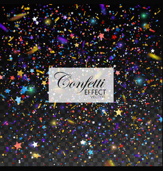 multicolored glittering star dust vector image vector image