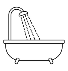 Shower icon outline style vector image vector image