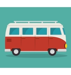 van vehicle tourism icon vector image