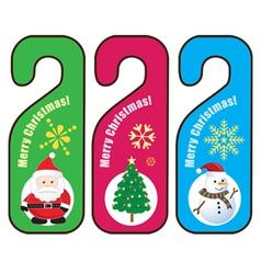 Christmas Door hanger vector image vector image