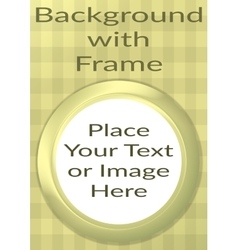 Frame Porthole on Yellow Background vector image vector image