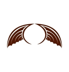 Two brown birds wing icon flat style vector image vector image
