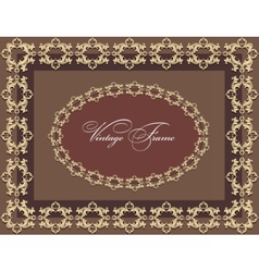Vintage Abstract floral classic frame vector image vector image