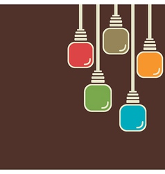 abstract colorful bulb background vector image vector image