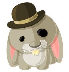 Bunny in a Bowler vector image vector image