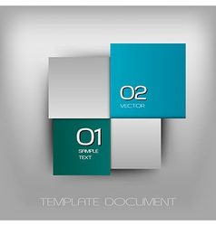 business four squares dark two color II with text vector image vector image