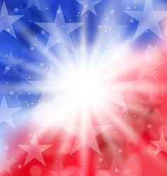 Happy 4th of July card with place for text vector image vector image