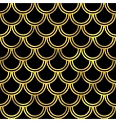 Abstract golden scaled seamless pattern vector image vector image